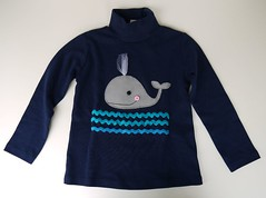 Camisa ballena (Lidia!!) Tags: crafts tshirt whale handicrafts camiseta ballena manualidades hechoamano
