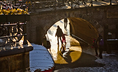 Frozen Winter Canals, Prinsengracht - Amsterdam - Netherlands (Stewart Leiwakabessy) Tags: family trees houses winter girls friends boy people woman man tree men cars ice boys water girl car amsterdam bike buildings boats boat canal women watching bikes stewart spectators gracht leiwakabessy stewartleiwakabessy gabled holidayonice frozencanal gabledhouses frozencanals icefrolic