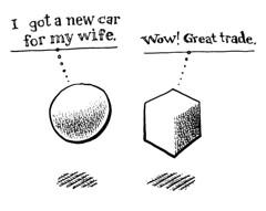 Abstract humor (Don Moyer) Tags: moleskine ink notebook sketch drawing joke doodle gag trade brushpen