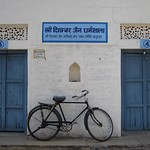 "Bicycle at Jain Temples <a style=""margin-left:10px; font-size:0.8em;"" href=""http://www.flickr.com/photos/14315427@N00/6886342465/"" target=""_blank"">@flickr</a>"