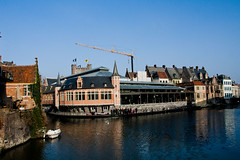 Belgique - Gent (Gand) - Architecture (saigneurdeguerre) Tags: europa europe belgium belgique riviere belgië ponte l lys belgica gent gand leie belgien rivier aponte antonioponte ponteantonio saigneurdeguerre