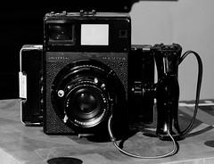 Mamiya Universal (Sibokk) Tags: uk blackandwhite bw white black mono scotland edinburgh panasonic digitalcamera digitalphotography jupiter8 gf1 mamiyauniversal panasonicdmcgf1
