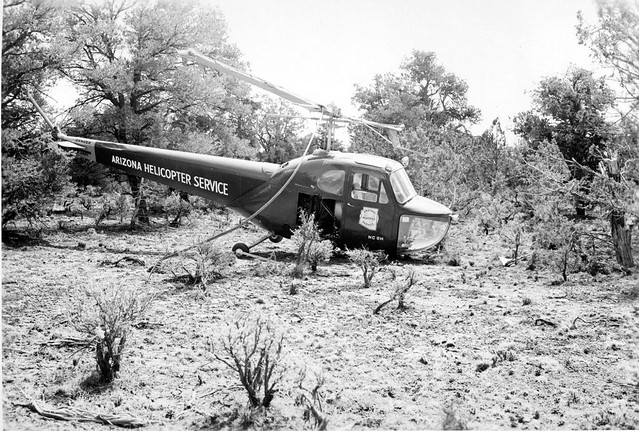 01477 HELICOPTER CRASH in Supai 1948