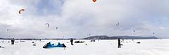 Kite surf (bouquiniste) Tags: winter snow kite la surf blanche saguenay baie pêche