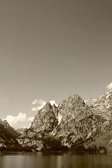0094SEPIA (Jillian Nelson) Tags: life sky mountain lake snow color reflection green nature outside teton
