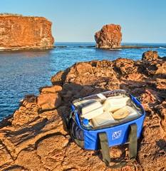 A Picnic with My Sweetheart (Andy BealPhoto.com) Tags: travel sunset vacation food seascape lumix hawaii rocks picnic panasonic hawaiian hdr lanai lx5