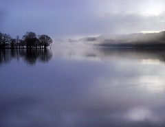 MISTY BLUE (explore) (kenny barker) Tags: winter reflection landscape lumix dawn scotland zen spiritual trossachs lochard rockpaper landscapeuk panasoniclumixgf1 rockpaperexcellence welcomeuk kennybarker