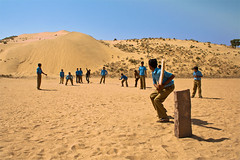 A game in the sands (Shashanka Nanda) Tags: india desert cricket thar rajasthan jodhpur schoolboys