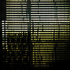reflections (morbs06) Tags: urban abstract glass architecture facade reflections germany square gold stripes blinds dsseldorf curtainwall dreischeibenhochaus