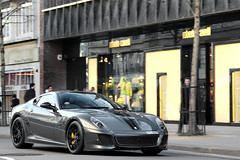 Grigio. (Alex Penfold) Tags: auto street camera black london cars alex sports car sport mobile canon photography eos grey photo cool flickr image awesome flash stripe picture super ferrari spot harrods knightsbridge exotic photograph spotted hyper gto rims supercar spotting exotica sportscar 2012 sportscars supercars penfold sloane 599 spotter hypercar 60d hypercars alexpenfold 599gtof gtof