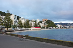 Oriental Bay (kristine913) Tags: building beach water bench bay wellington oriental