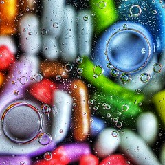 Macro Sprinkles and Oil (Lens Daemmi) Tags: macro sugar sprinkles oil makro safflower zucker streusel flickraward flickraward5 distell