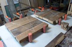 Stick-Built 4 & 5 b (ReUse Action) Tags: furniture hemlock clamping glueup stickbuilt rustedgrain