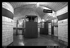 Estación de Chamberí (Montse Estaca) Tags: madrid españa station underground subway spain metro tube museo spagna metrodemadrid taquillas estacióndechamberí antiguaestacióndechamberí
