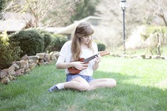 Spring (Clearlycassidy) Tags: girl spring ukulele