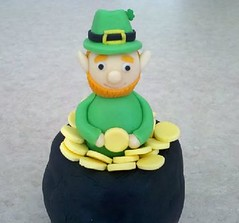 Lewis the Leprechaun (Edible Epiphanies) Tags: shamrock stpatricksday leprechaun fondant potofgold fondantfigure