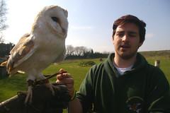 633-23L (Lozarithm) Tags: people birds 1855 falconry blip hants weyhill hawkconservancy k100d justpentax pentaxzoom