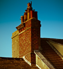 Rooftops 2 (dave-hall) Tags: rooftops seatoncarew hartlepool chimneypot