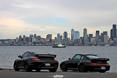 Porche Turbo S 997 and 993 (eGarage.com) Tags: seattle porsche 993 997 porscheturbo egarage 993turbos blackporscheturbos