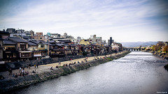 Sixteen Saltines (Stephan Geyer) Tags: old city flowers sky mountains classic water japan 35mm canon river landscape eos japanese spring kyoto sakura 5d nippon canon5d gion ef oldcity hanami 3514 canoneos5d canonef35mmf14l 35l f14l the4elements canon5dclassic