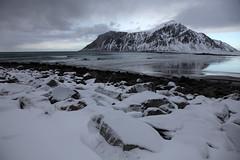 Flakstad Norway (sebastien banuls) Tags: winter snow norway canon landscape island eos norge day photos hiver norwegen arctic noruega neige polar paysage lofoten norvegia nauy polaire noorwegen norvge norja  noregur  norwegia norveka  noorwe