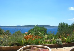 Queen's View (Adka62) Tags: ocean flowers sea terrain water garden relax island chair mediterranean view terrace croatia tranquility midday hvar queensview
