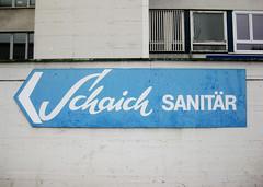 Schaich Sanitr (BaBo Raino Archive) Tags: schrift foundtype cannstatt badcannstatt badenwrttemberg wrttemberg sanitr waiblingerstrase schaich schaichsanitr schduargard