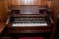 Treadle Organ 1 (LongInt57) Tags: old music brown white canada black heritage church vintage wooden keyboard bc antique okanagan organ musical instrument historical kelowna treadle