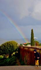 clich (Martina Santucci) Tags: rain rainbow child pioggia bambino impermeabilegiallo yellowtrenchcoat