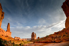 Arches National Park... (AGP318) Tags: sky clouds utah desert peak moab archesnationalpark