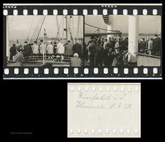 35mm Contact Print Roll Trip to England (04) (Hans Kerensky) Tags: trip england london film thames 35mm paper print found with kodak board 1938 holes september photographs german ms roll to contact monte entering sprocket on pascoal panatomic