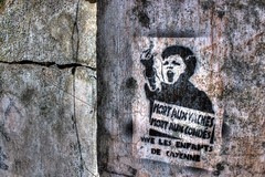 Vive les enfants de Cayenne (urban requiem) Tags: old urban french lost graffiti decay sigma cayenne prison jail exploration derelict hdr abandonned verlassen pochoir urbex abandonn guyane 816 frenchguiana 600d bagne guiana guyanefranaise ilesdusalut vivelesenfantsdecayenne