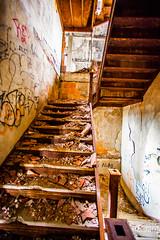 The Older Get Younger (Thomas Hawk) Tags: usa abandoned stairs graffiti unitedstates michigan unitedstatesofamerica detroit stairway mcs corktown michigancentralstation michigancentraldepot