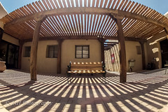 Time Tunnel (jah32) Tags: shadow shadows light courtyard museum casagrandenationalmonument lines gopro fisheye arizona coolidge shade