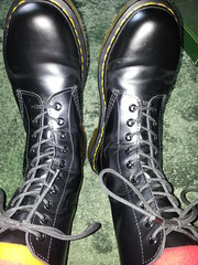 20160412_091132 (rugby#9) Tags: original black feet yellow socks boot shoe hole boots 10 lace dr air 7 indoor icon wear size footwear stitching comfort sole doc cushion soles dm docs eyelets drmartens bouncing airwair docmartens martens dms stripedsocks 1490 cushioned wair 10hole doctormarten multicolouredsocks yellowstitching