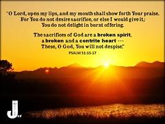 Psalm 51:15-17 (pastorjoshmw) Tags: worship call bible to scripture psalm 511517