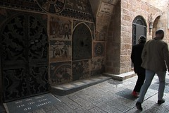 Walking through the streets of Jerusalem - Jewish Quarter Street - may 2016 (cesar-cdr) Tags: voyage street trip friends shadow hot tourism church weather photography israel photo warm photographie tour friendship desert walk mosaic jesus perspective streetphotography shades photograph journey land welcome mate amis companion comrade glise mosaique eglise amiti tourisme pilgrims dsert mosaque sjour isral peope sejour compagnons plerinage plerin