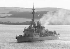 FS Cassard 9th April 2016 #1 (JDurston2009) Tags: england unitedkingdom plymouth frigate warship marinenationale frenchnavy hamoaze d614 fscassard cassardclass typef70aa