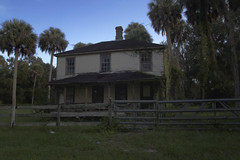 (farenough) Tags: old two chimney house history abandoned home rural was photo gate florida decay farm south palm explore story forgotten fl once wander rurex