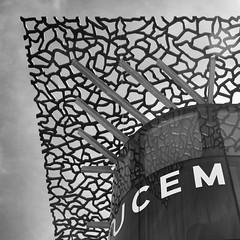 M U C E M (Flakadiablo) Tags: museum architecture concrete eos marseille noiretblanc musee beton whiteandblack 40d mucem