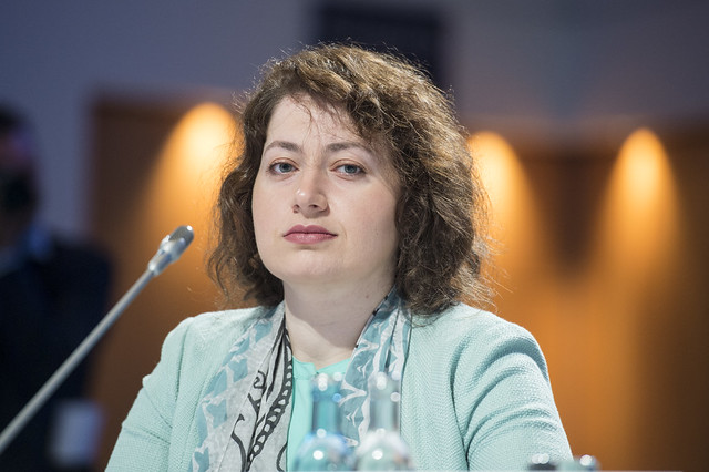 Ketevan Salukvadze at the Closed Ministerial Session