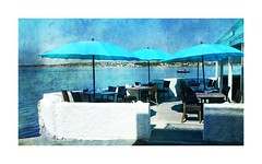 Srie du 21 08 15 : Balaruc (basse def) Tags: blue sea france beach restaurant languedoc balaruc