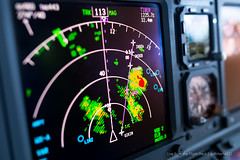 Thunderstorms - Boeing 737 Weather Radar (gc232) Tags: from cloud storm art weather clouds plane 35mm lens airplane fly flying bokeh f14 live aircraft flight cell sigma cockpit deck return airline nd instrument thunderstorm boeing cb storms instruments 35 cells pilot radar airliner wr 737 thunderstorms returns cumulonimbus wx b737 737800 737700 737ng 737900 b737800 avoiding sigma35 b737700 b737900 b737ng golfcharlie232