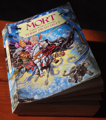 Latest Book, (Re-read) Terry Pratchett, Mort (Martin Pettitt) Tags: book suffolk spring mort may indoor dslr terrypratchett burystedmunds nikond90 project366 afsdxvrzoomnikkor18105mmf3556ged