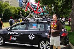Trek Team car (backonthebus) Tags: me bicycle fan sony racing experience sacramento finishline amgentourofcalifornia a6000 backonthebus trekteamcar