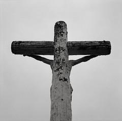 Oregon City (austin granger) Tags: cemetery stone death peeling cross time decay religion jesus bleak christianity cracked crucifixion correspondence sacrifice oregoncity gf670 austingranger