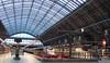 RD13353. Eurostars. (Ron Fisher) Tags: station train eurostar transport olympus vehicle emu e300 publictransport stpancras trainshed passengertrain e320 class373 stpancrasinternational class374 olympusvh520