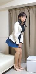 DSC07108 (mimo-momo) Tags: girl japanese crossdressing transvestite miniskirt crossdresser crossdress
