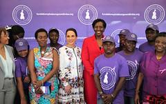 Visit to Gabon | Libreville, 23 June 2016 (Jeannette Kagame) Tags: firstladymrskagame jeannette kagame sylvia bongo ruban vert international widows day journe internationale des veuves gabon libreville