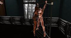 018 (djolyx) Tags: sexy fetish noir bdsm piercing sl secondlife rack plug mistress kinky slave sheer